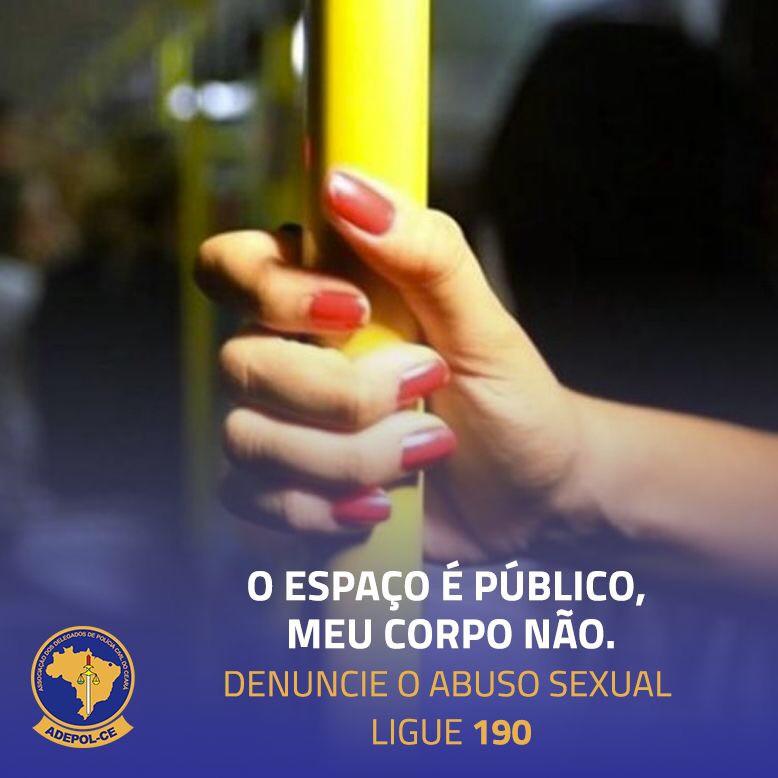 Adepol/CE apoia campanha contra o abuso sexual no transporte coletivo