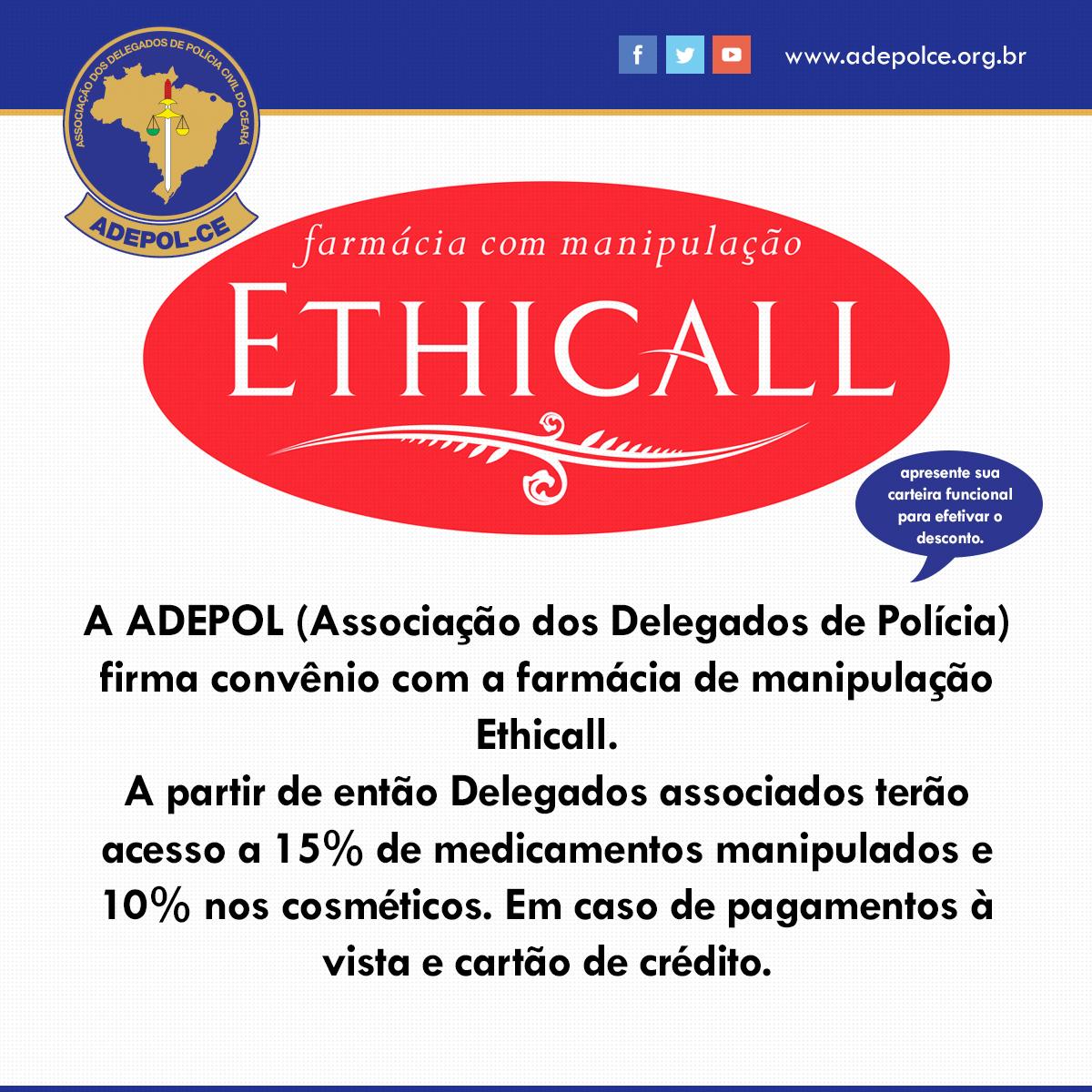 Convênio com a farmácia de manipulação Ethicall