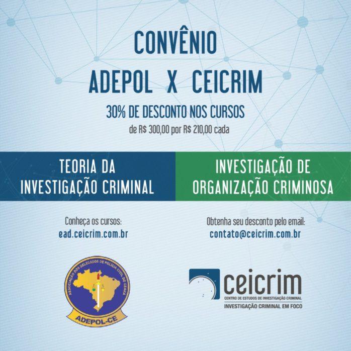 CEICRIM oferece cursos com descontos aos associados à Adepol/CE