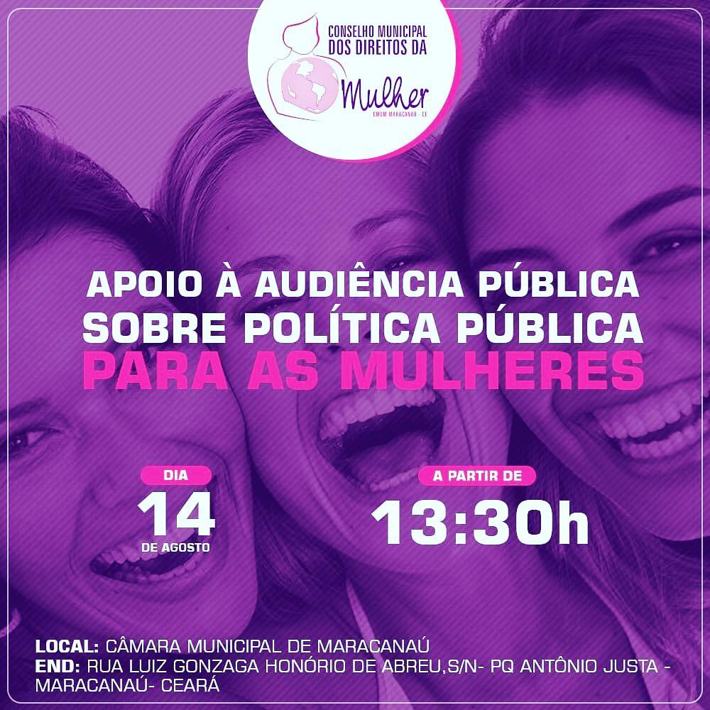 Políticas Públicas para Mulheres será pauta de audiência pública