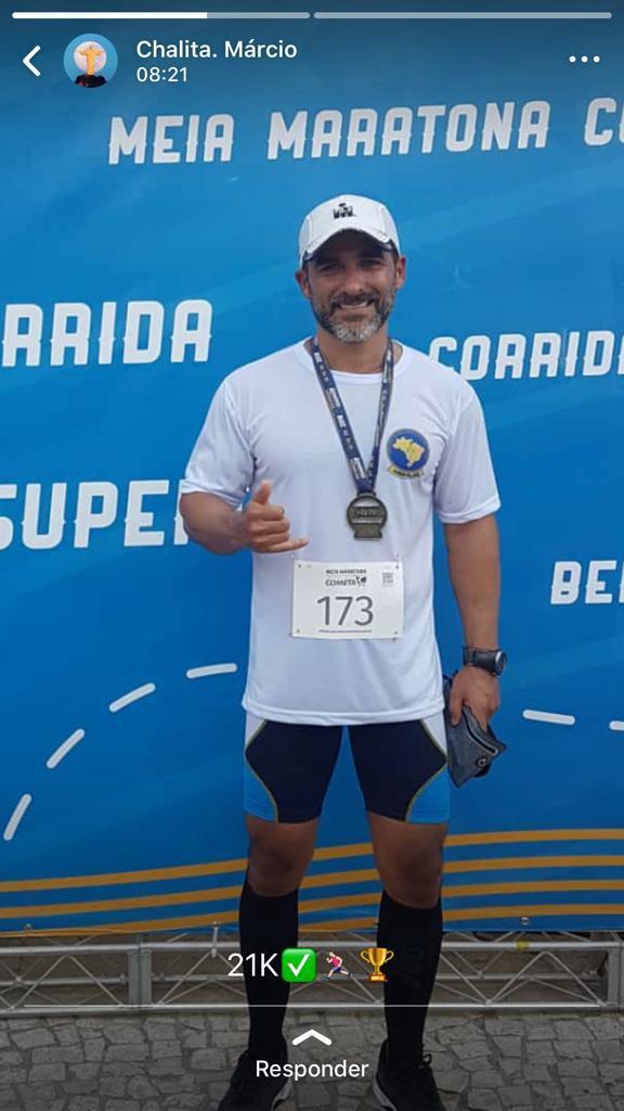 Delegado Márcio Chalita participa de Meia Maratona nesse fim de semana