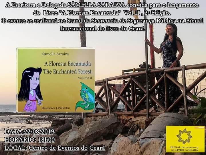 Delegada Sâmella Saraiva lança livro nesta quinta-feira (22) na Bienal do Livro