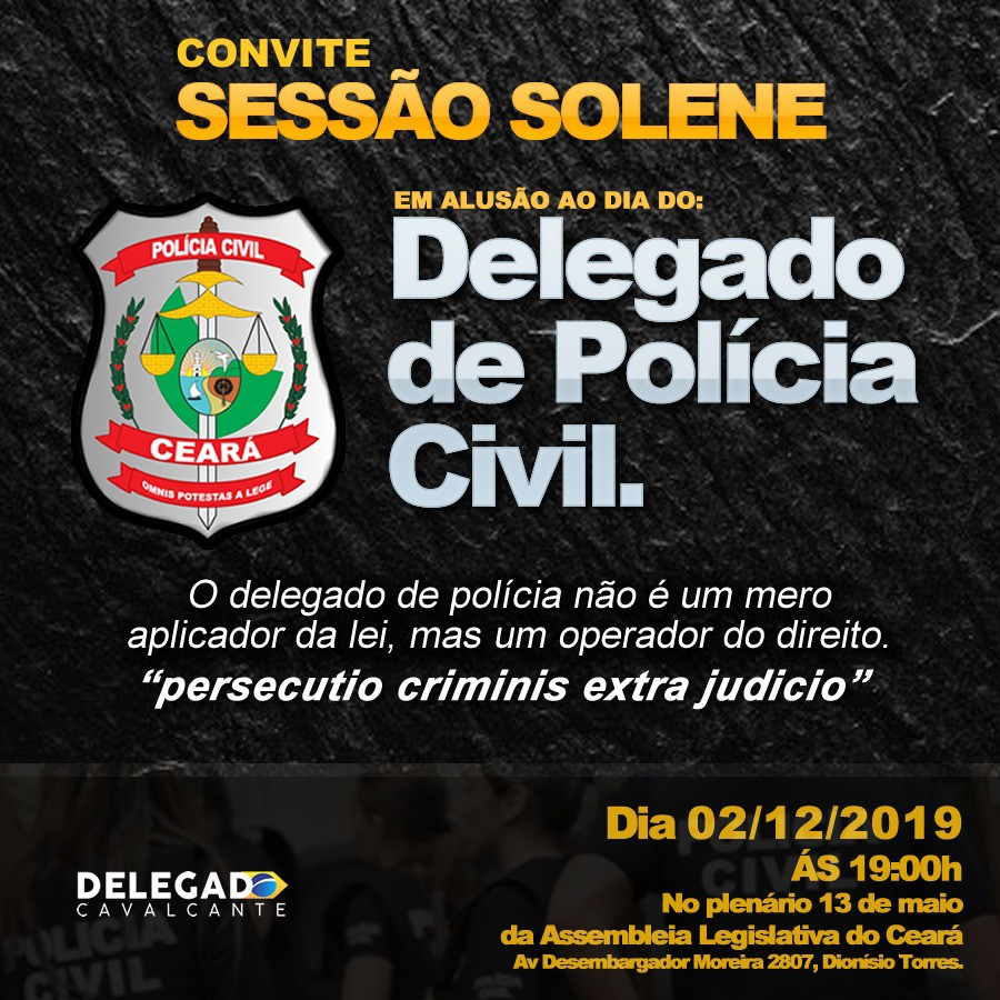 Convite Dia do Delegado de Policia Civil